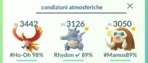 Ricerca Pokémon per condizioni atmosferiche