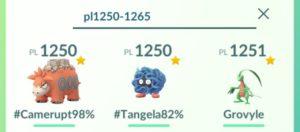 Ricerca Pokémon per range di punti lotta