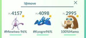 Ricerca Pokémon con secondo attacco caricato sbloccato